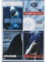 3 Filmy Megalodon / Otevřené moře / Žraloci DVD
