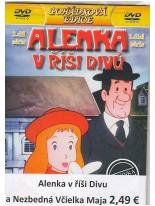 3 DVD rozprávky: Alenka v říši divů 2. diel + Včelka Mája: Mája a lesní požár + Včelka Mája 2: Mája na výlete
