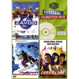 3 Filmy na DVD: Adrenalin, Hladina adrenalínu, Závod DVD