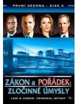 Zákon a pořádek Zločinné úmysly 5 DVD