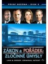 Zákon a pořádek Zločinné úmysly 3 DVD